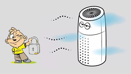 菲尔博德空气净化器儿童模式